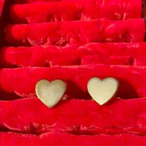 Tarnished heart cufflinks
